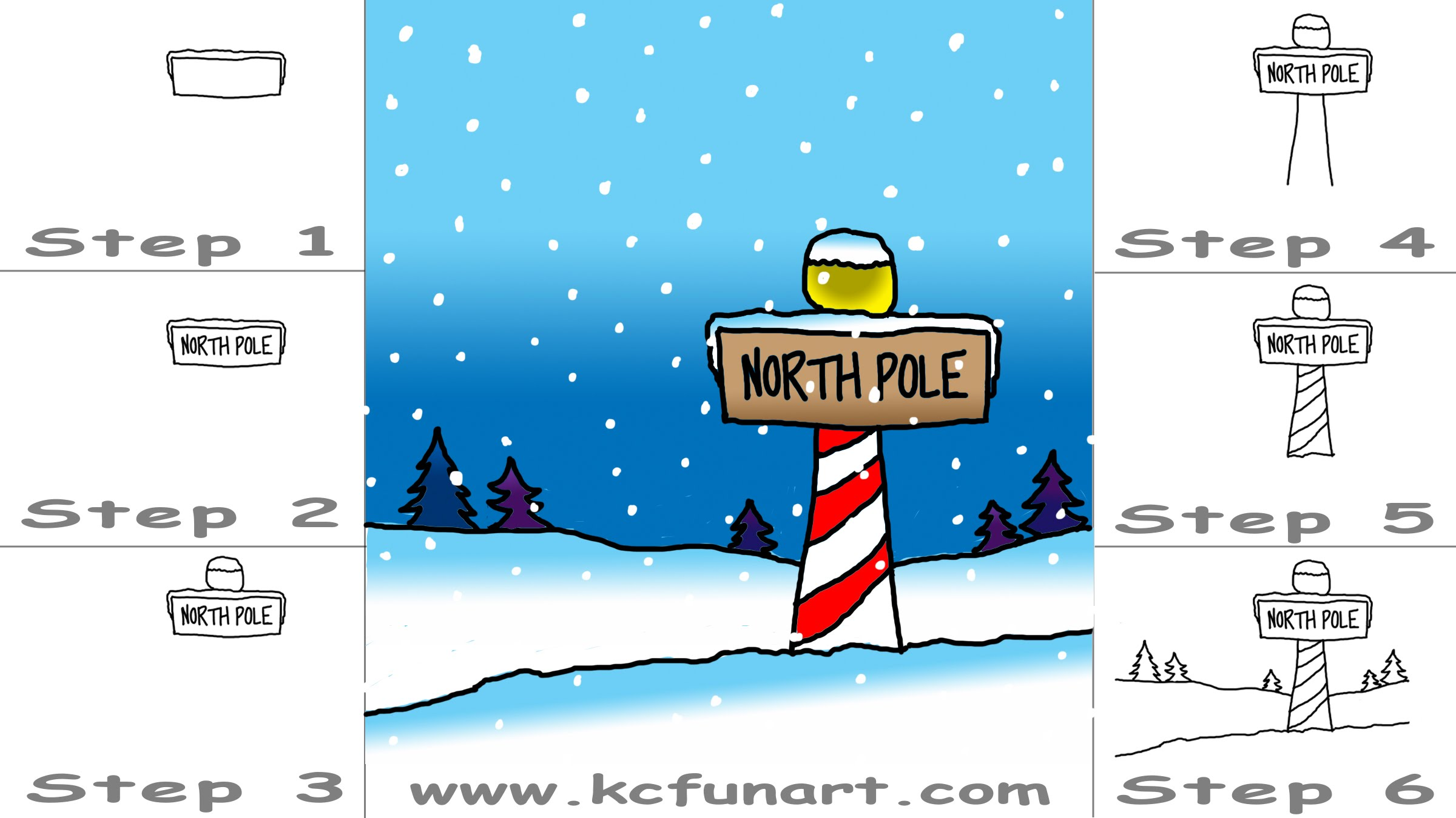 2400x1350 80 How To Draw A Cartoon North Pole