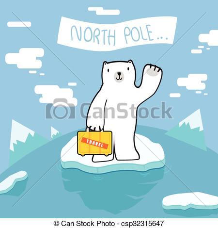450x470 Polar Bear Welcome To North Pole Eps Vector