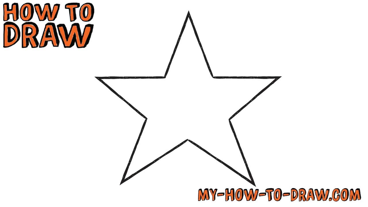 1280x720 How To Draw A Star Super Easy