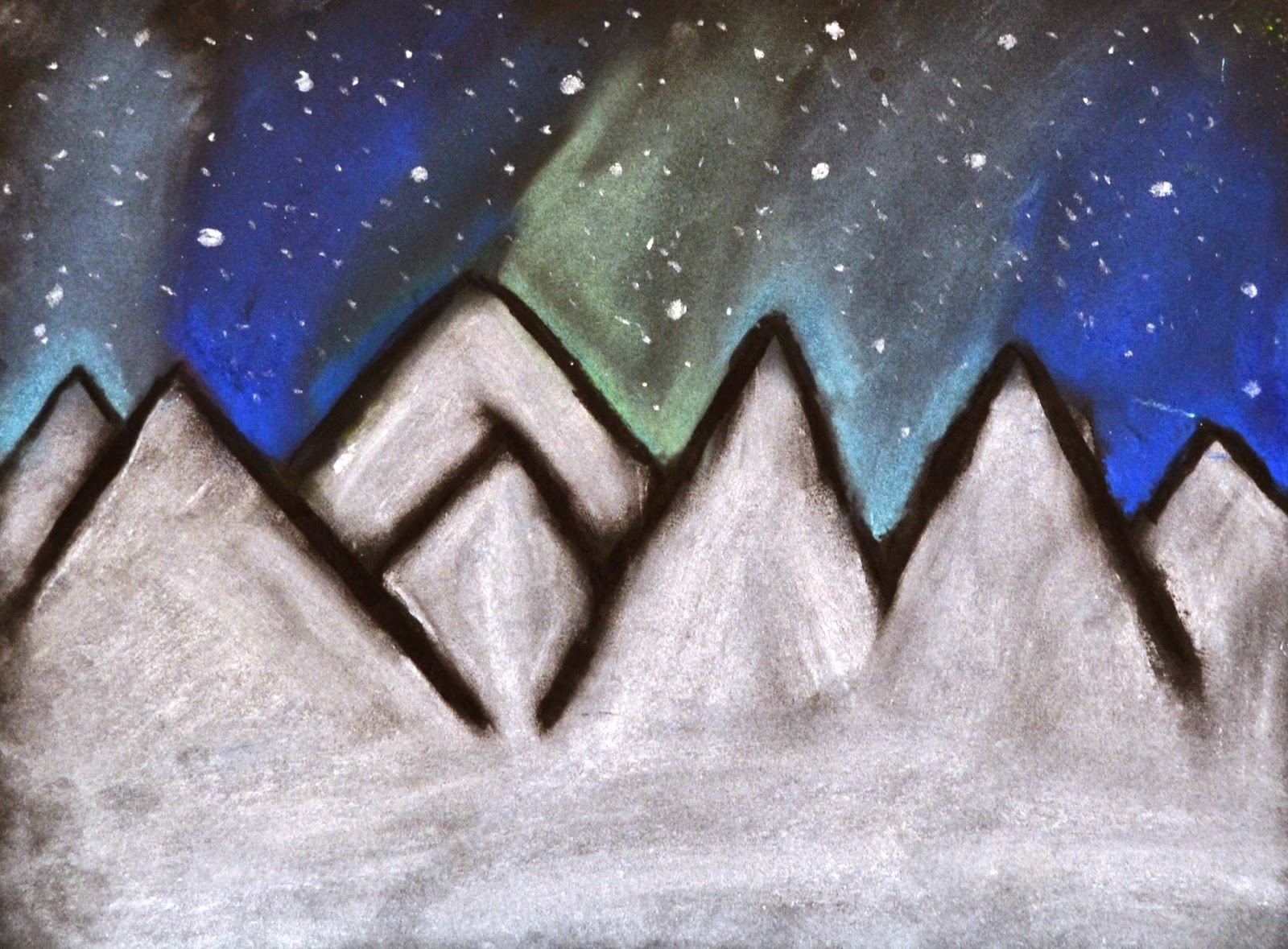 1600x1179 6th Grade Northern Lights Drawings Lessons From The K 12 Art Room
