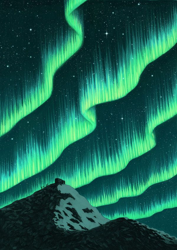 600x846 Aurora Borealis Type Background With Vibe Higher Written In