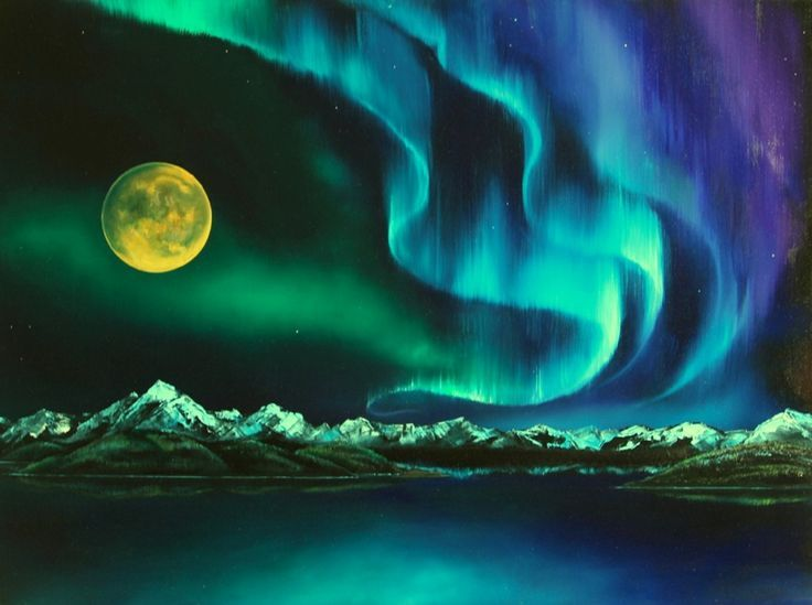736x549 Image Result For Chalk Drawings Of The Northern Lights Art