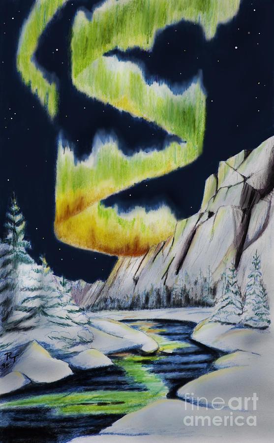 557x900 Northern Lights Drawing By Robert Thornton