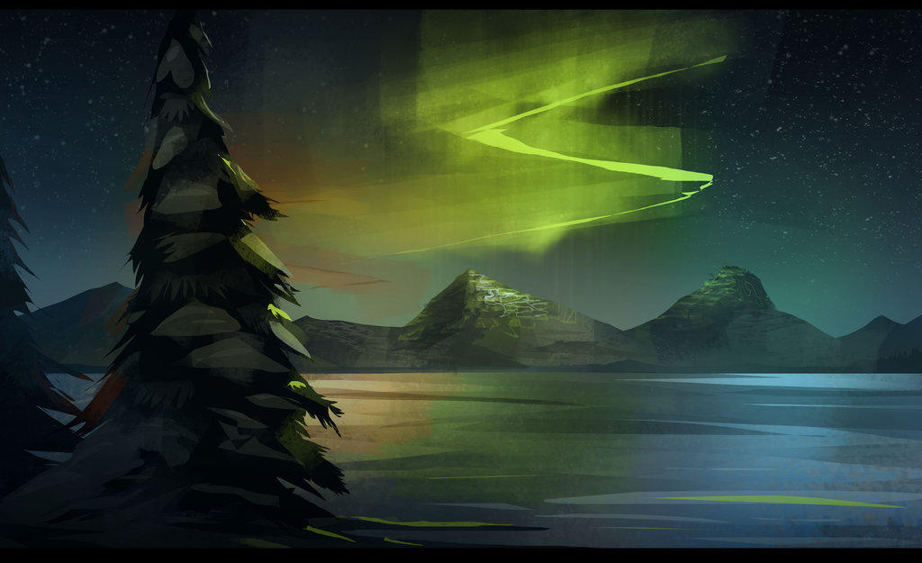 1024x625 Northern Lights By Pencil Guy