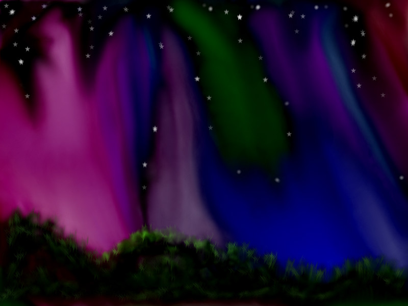 800x600 Northern Lights A Other Speedpaint Drawing By Bubbi58