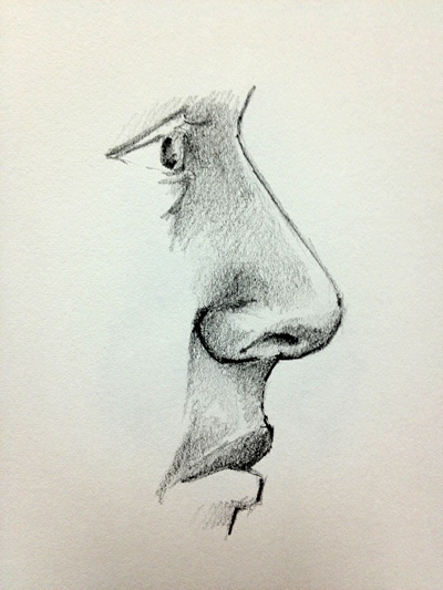 400x533 Nose In Profile Drawing Lots Of Video Tutorials + Lessons, Tips