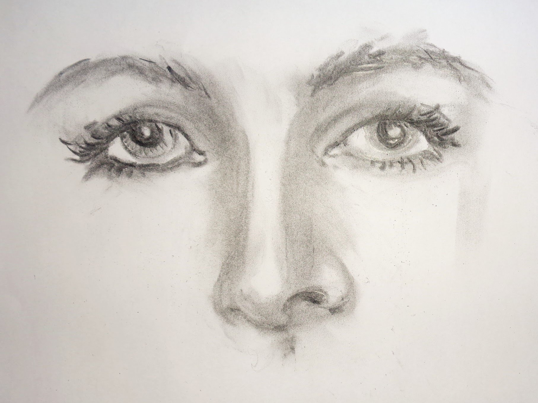 1814x1361 Nose Pencil Sketch Simple How To Draw With Charcoal Pencils