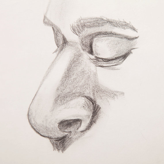 570x570 Sleepy Man With Big Nose Pencil Drawing From 1970'S