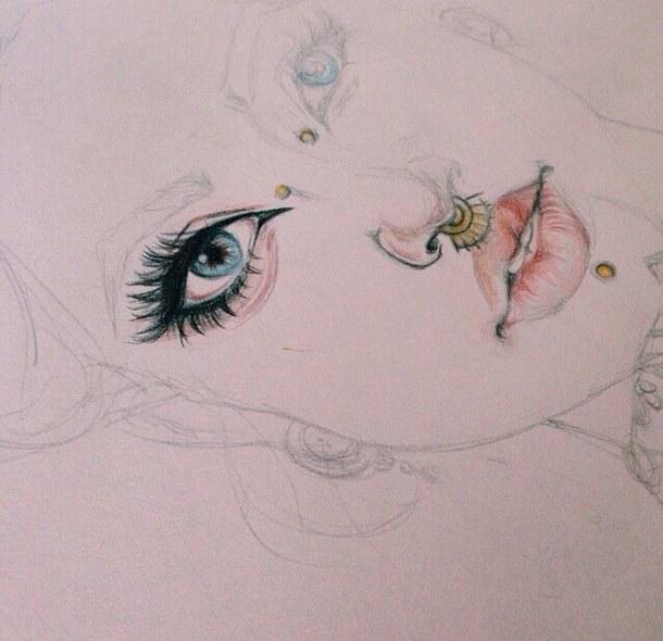 610x590 Art, Blue Eyes, Boho, Colors, Doodle, Drawing, Eyes