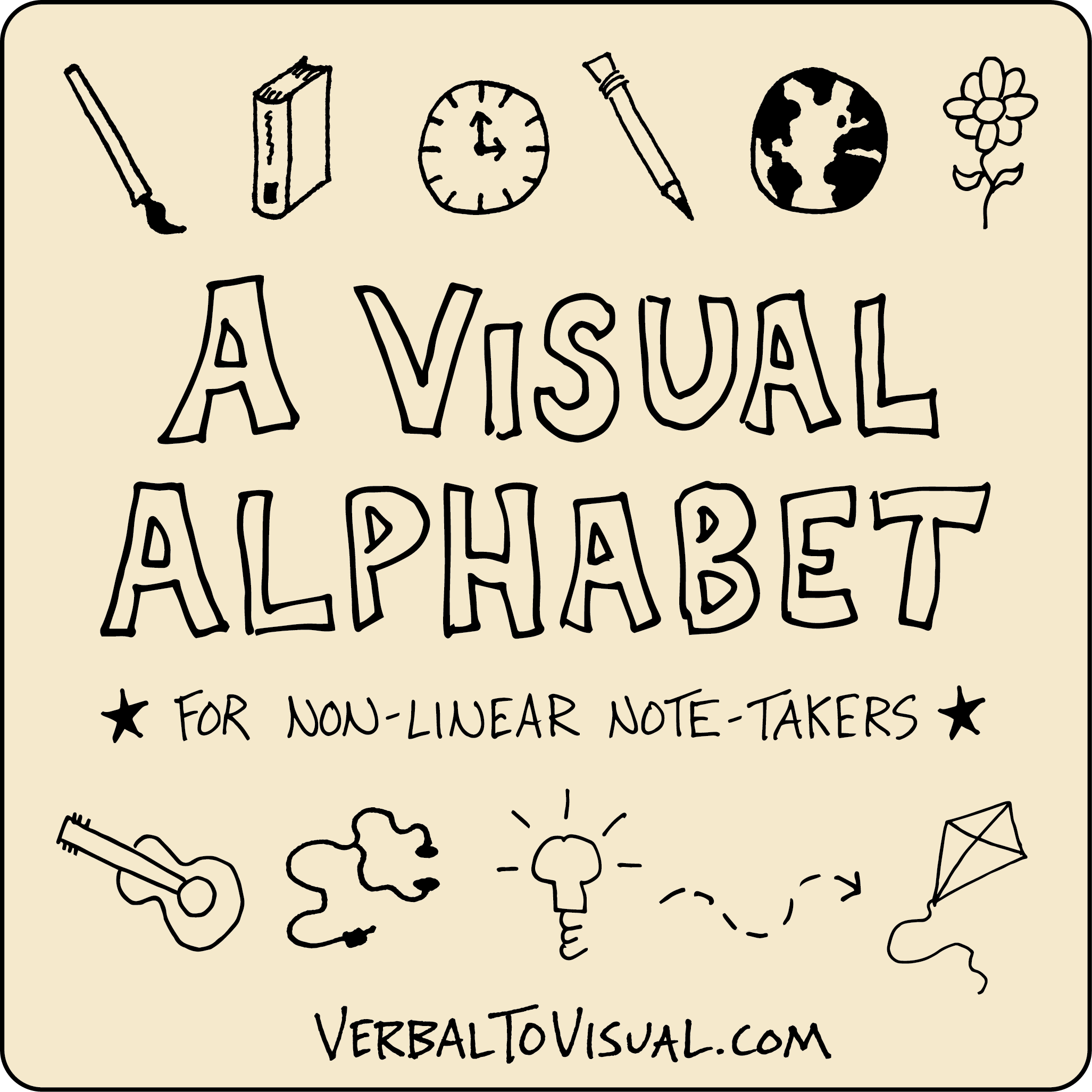 2053x2052 D Is For Drawing A Visual Alphabet For Non Linear Note Takers
