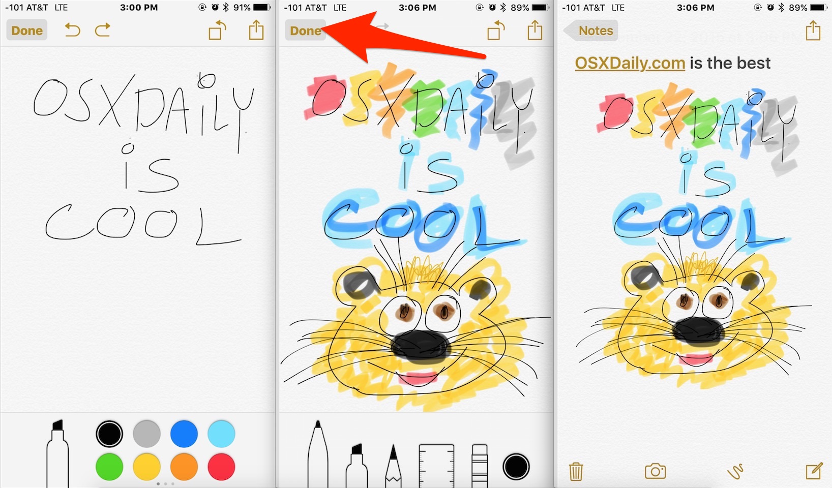 1636x960 How To Use The Drawing Tools In Notes For Ios