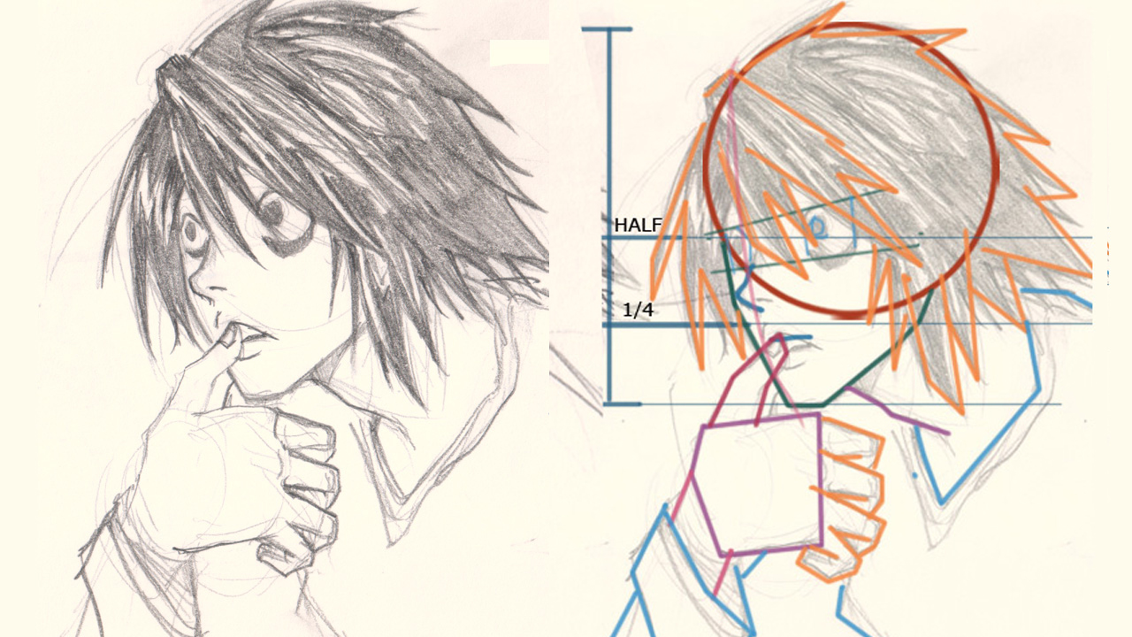 1280x720 How To Draw L Death Note