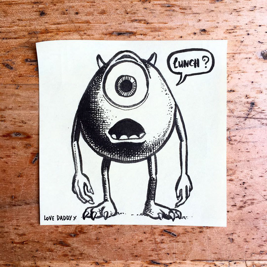 915x915 Sticky Note Drawings I Like To Draw Stuff On Sticky Notes For My