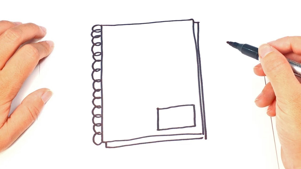 1280x720 How To Draw A Notebook Step By Step Notebook Drawing Lesson