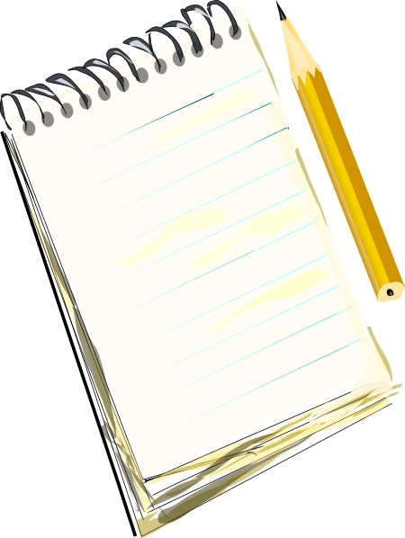 450x598 Notepad Pencil Clip Art Free Vector In Open Office Drawing Svg