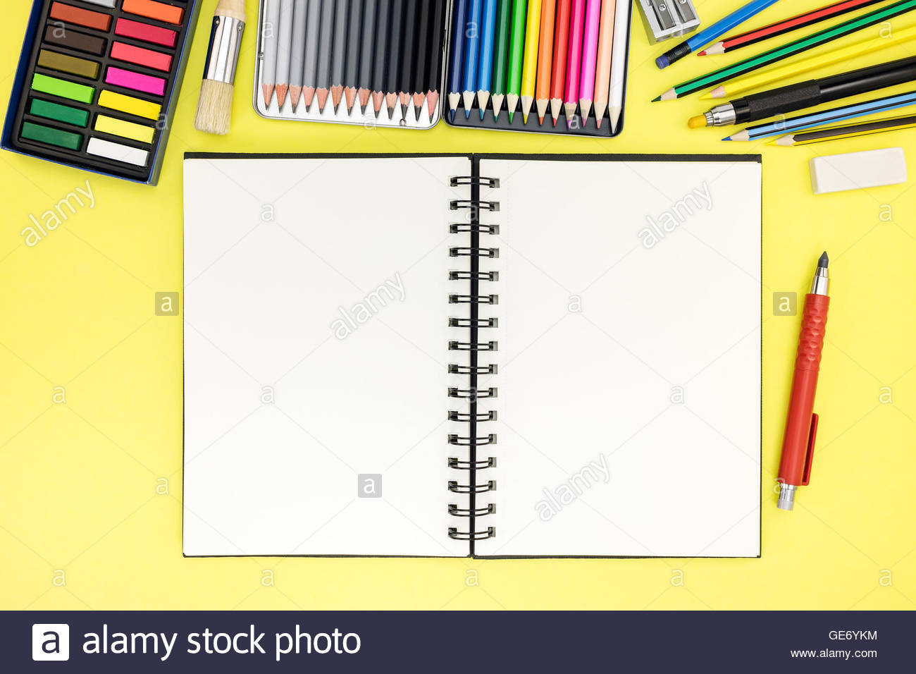 1300x956 Student Desk Background With Notepad And Stationary For Writing
