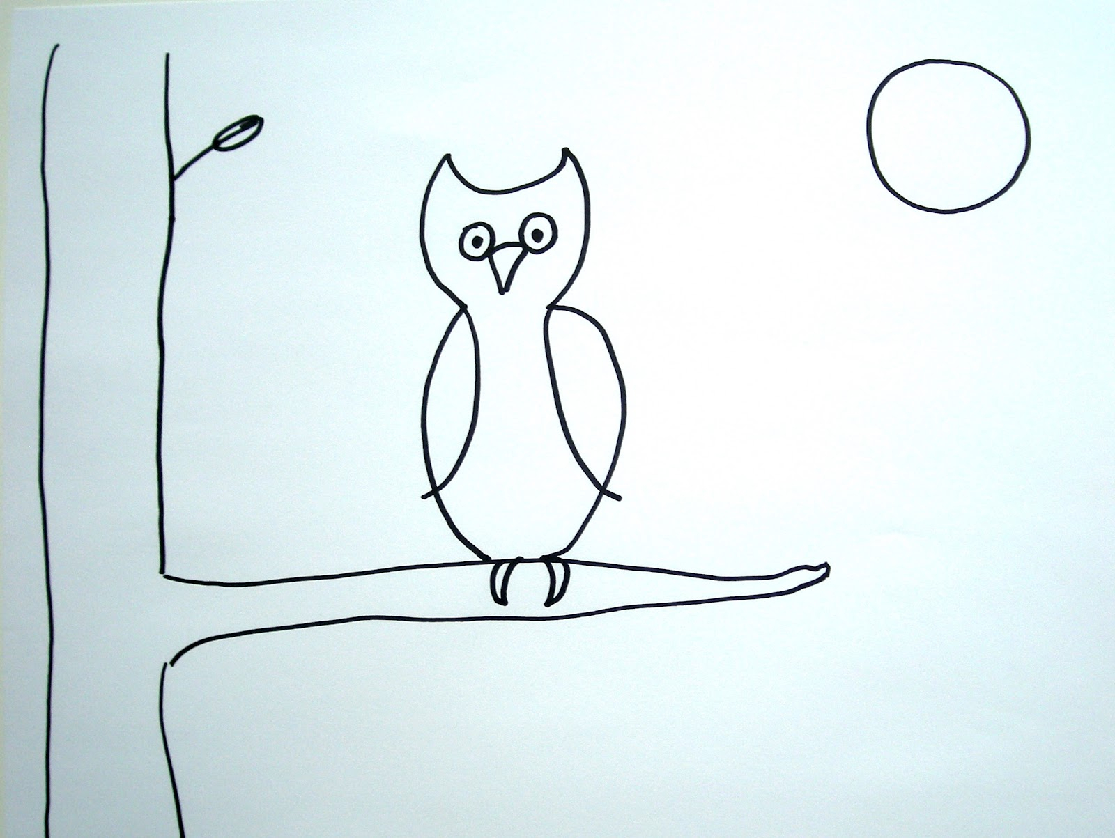 1600x1203 Owl In A Tree Drawing Notes From The Story Room The Night Walk