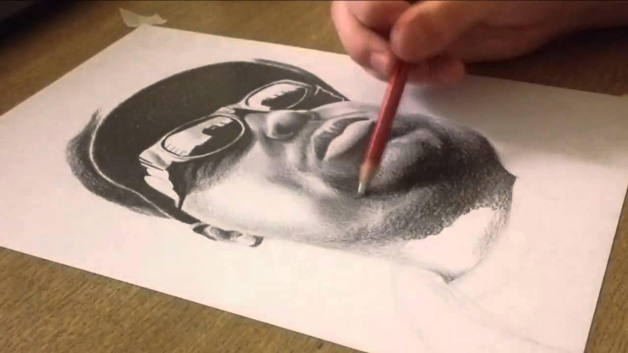 1280x720 Drawing Notorious B.i.g Biggie Smalls