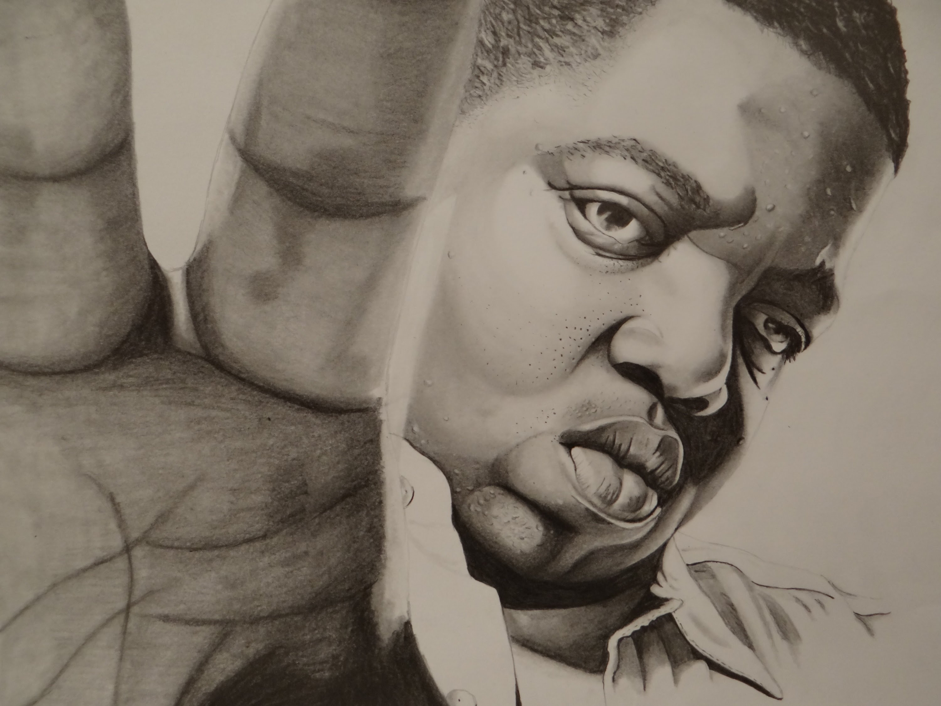3000x2250 Pencil Drawing Of The Notorious B.i.g.