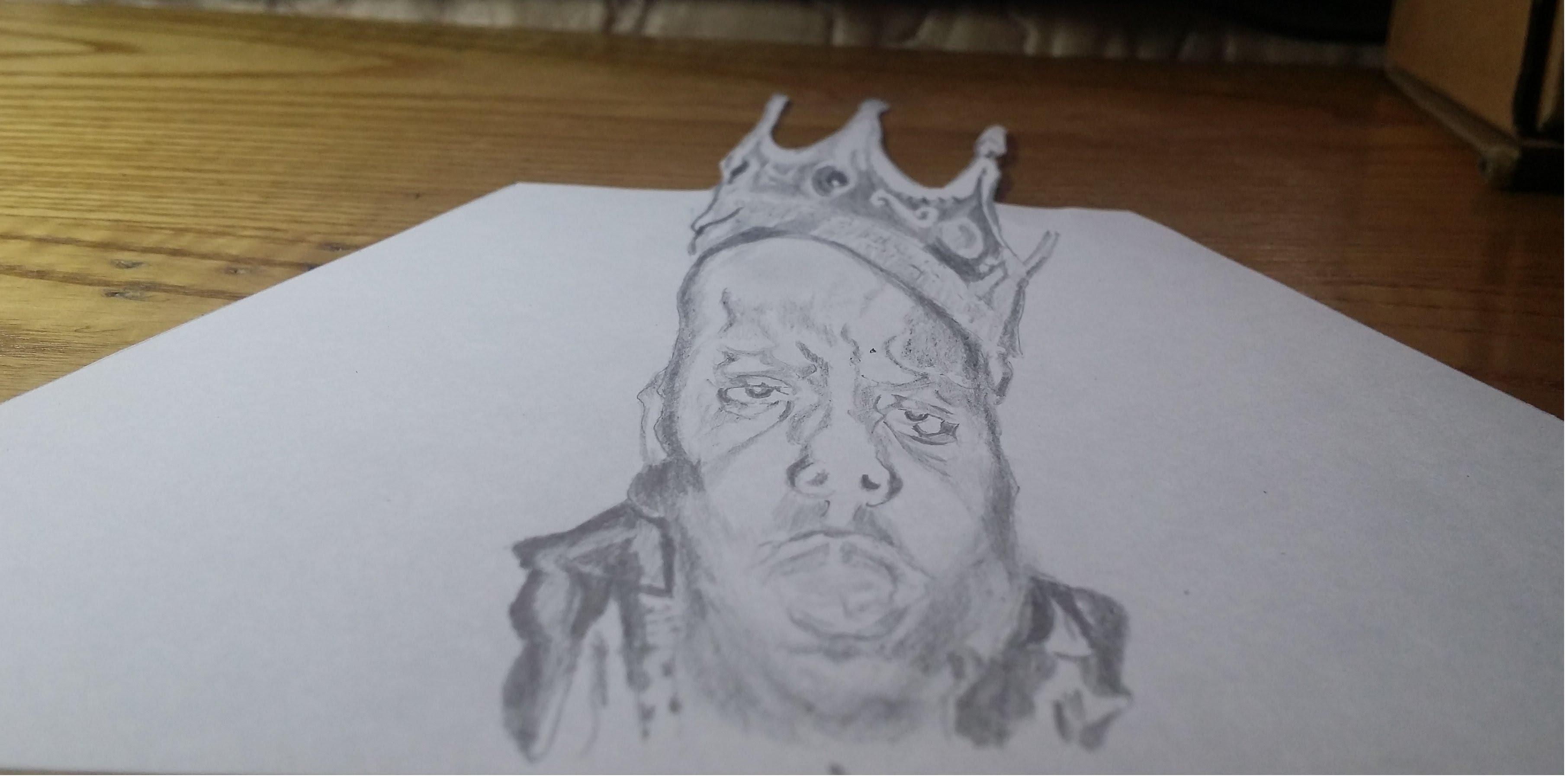 3624x1800 The Notorious B.i.g. 3d Drawing Biggie Smalls