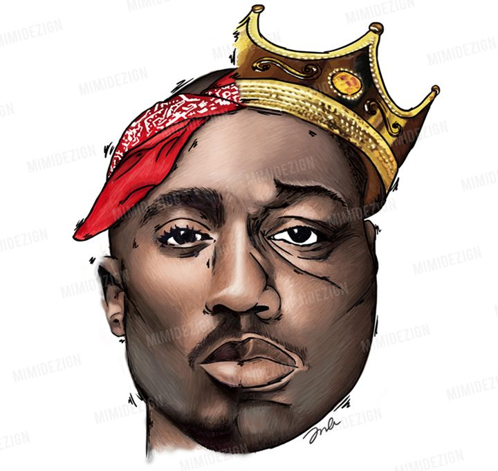 720x681 Tupac Shakur Amp Notorious B.i.g. Art