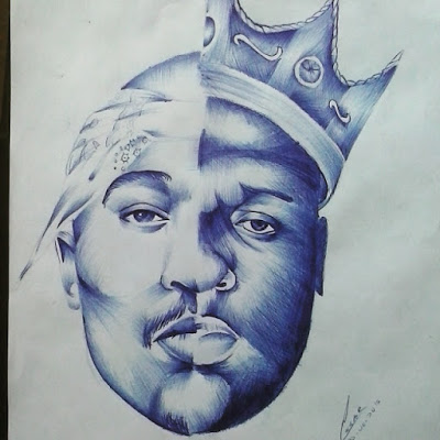 400x400 Wellerson Cesar Drawing Tupac And Notorious B.i.g Drawings