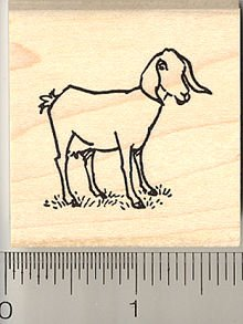 220x293 Goat Rubber Stamps