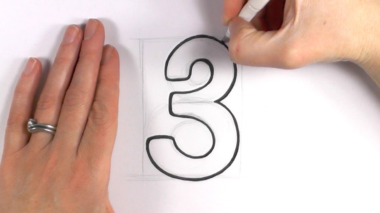 Number Three Drawing at GetDrawings.com | Free for personal use ...