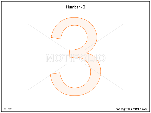 Number three drawing at getdrawings free for personal use 500x375 number maxwellsz