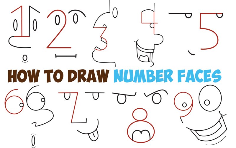 How To Draw Cartoon Faces Using Letters