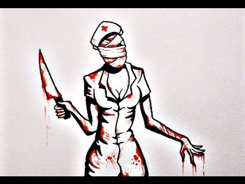 480x360 How To Draw Silent Hill Nurse