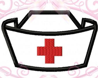 340x270 Nurse Hat Applique Etsy