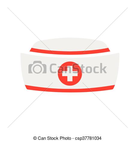 450x470 Vector Nurse Hat Icon With On White Background Vectors