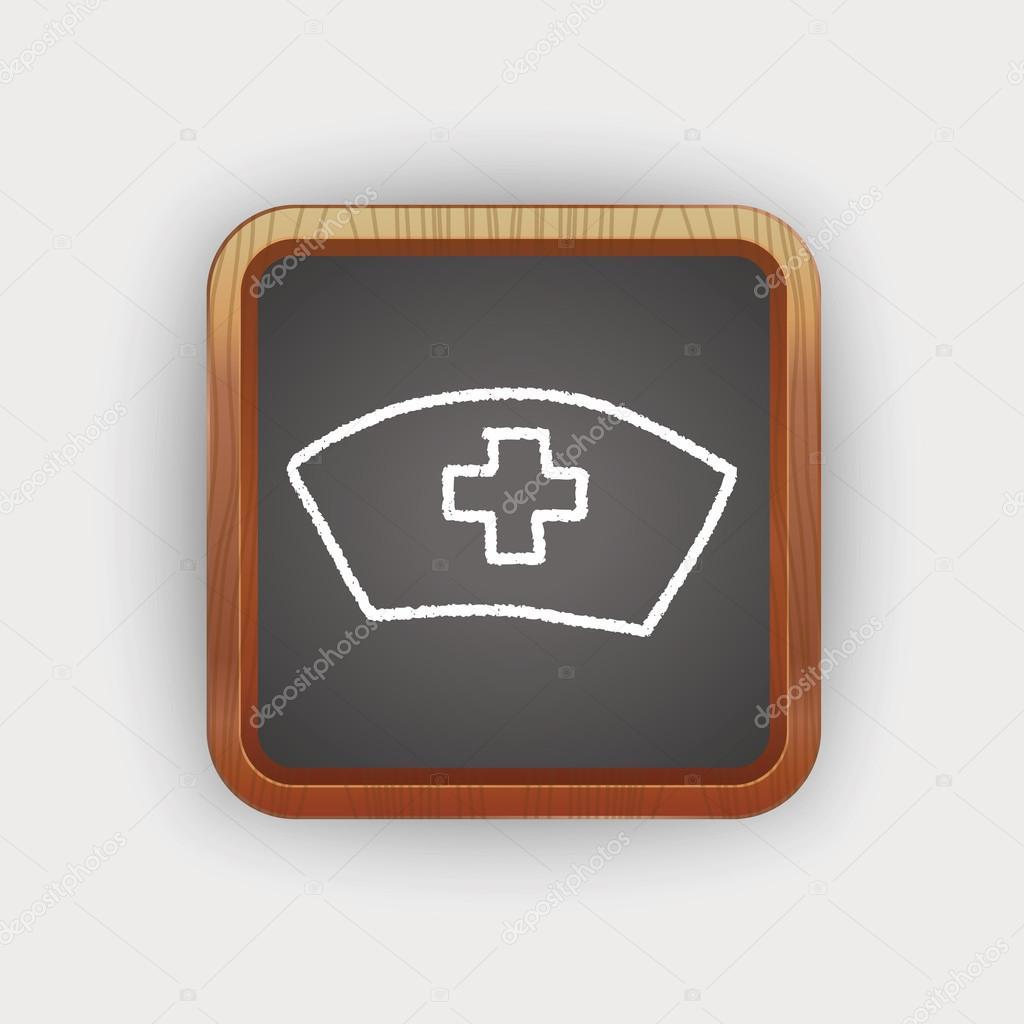 1024x1024 Nurse Hat Doodle Drawing Stock Vector Hchjjl