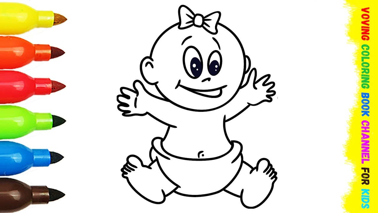1280x720 Little Baby Peppa Pig Coloring Book Drawing Pages Birthday Cake