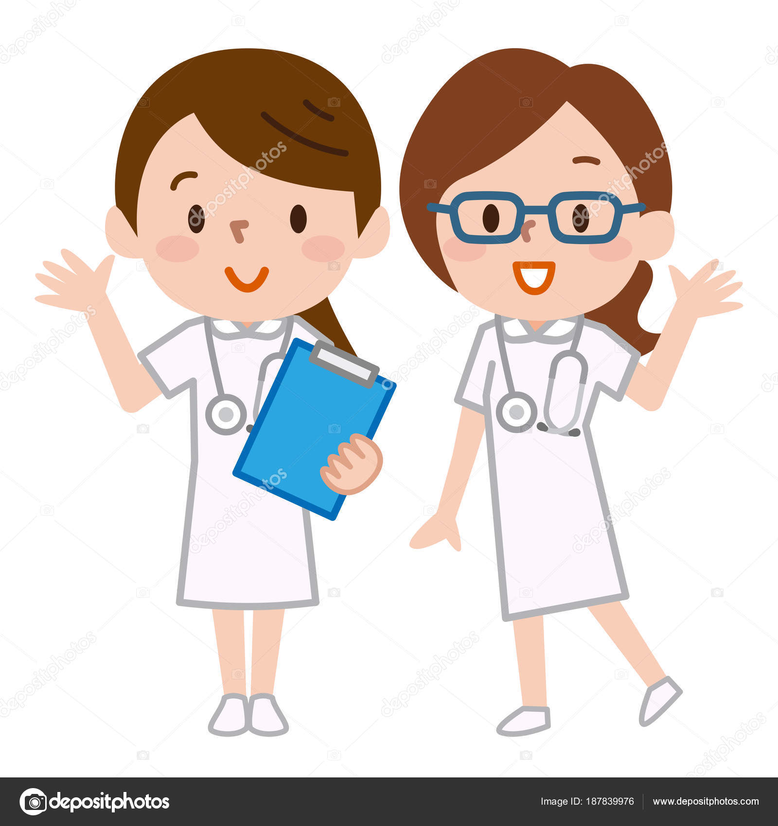 1600x1700 Illustration Of Two Nurses Stock Vector Ankomando