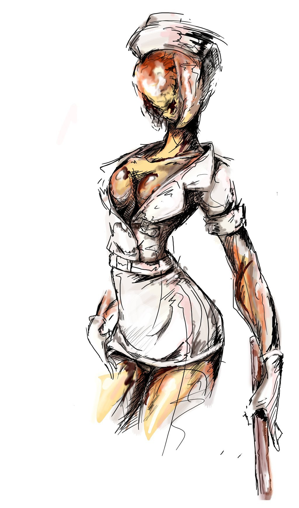 1024x1742 Silent Hill 2 Nurse By Agacross
