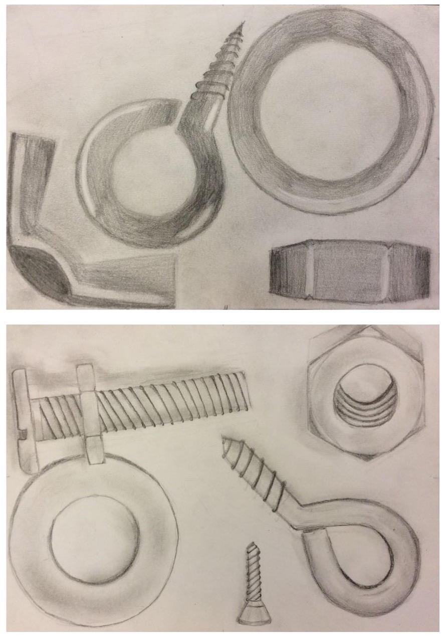 890x1270 Kunst Klasse Nuts And Bolts Pencil Studies Didac Galerie