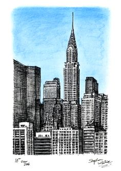 236x333 Chrysler Building, Nyc, New York Drawing By Stephen Altshire New