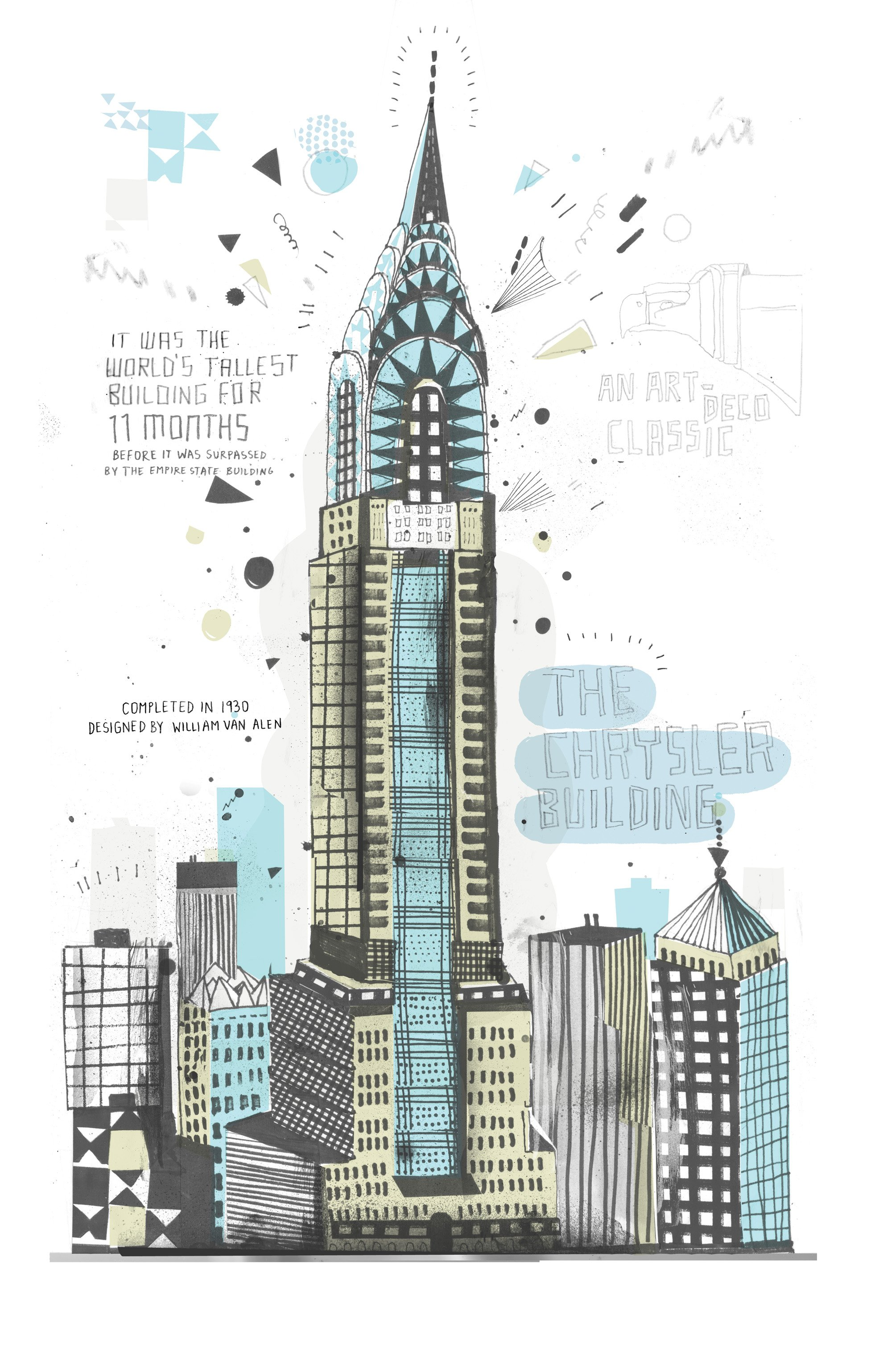 2000x3077 Nyc Buildings Drawing Fresh At Allthebuildings 29 Chrysler