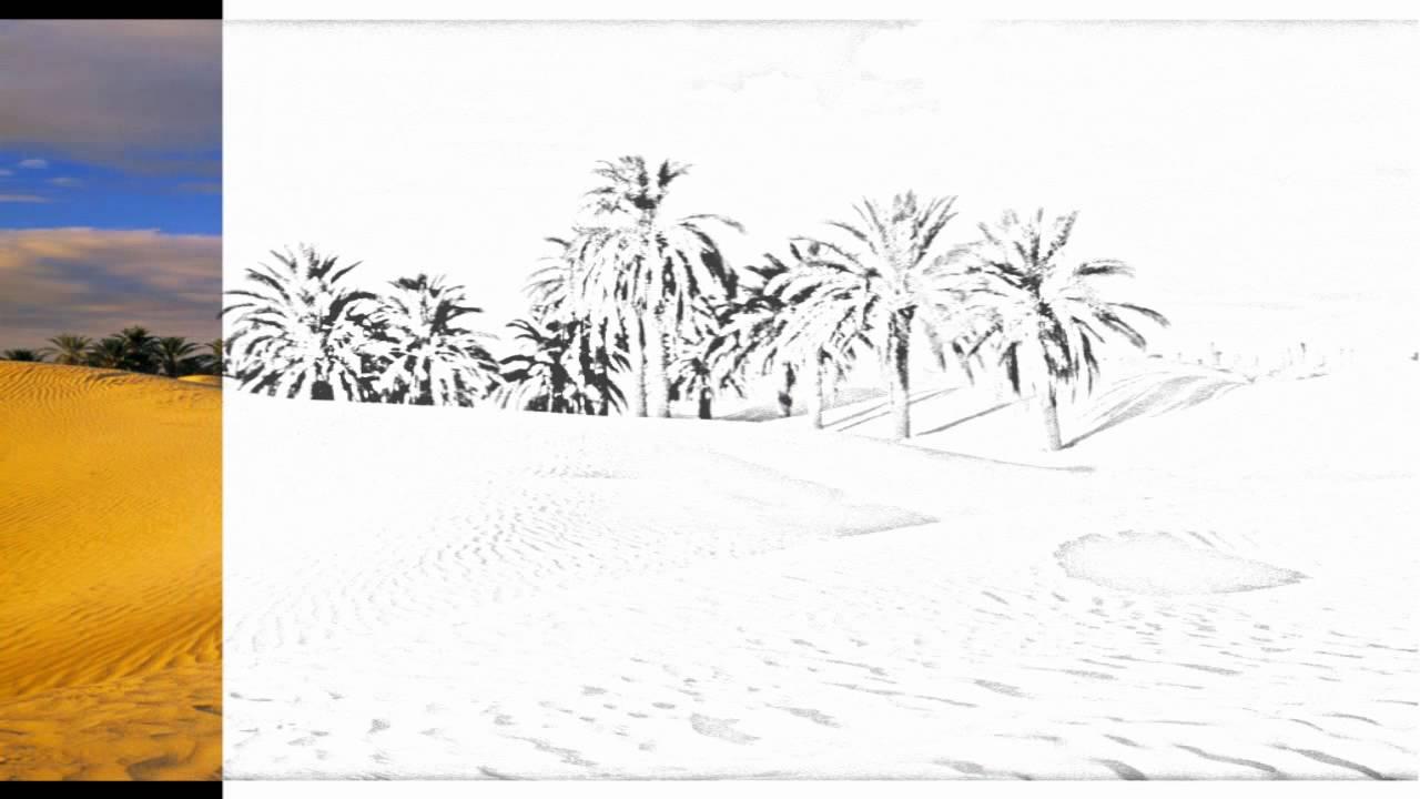 1280x720 Auto Draw 2 Desert Oasis, Tunisia