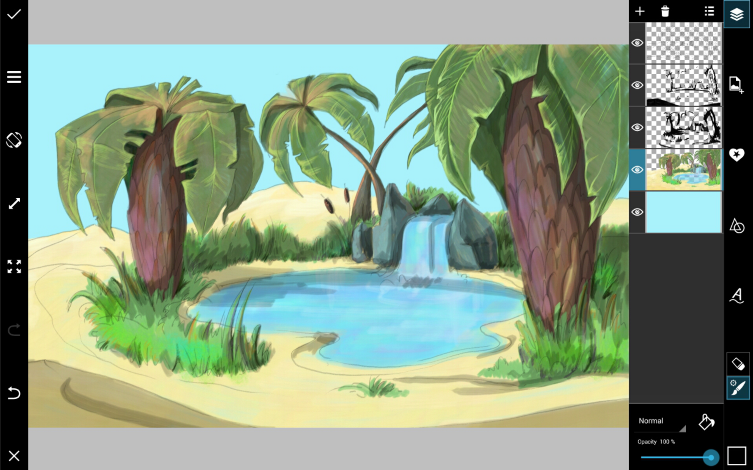 2560x1600 Drawing Tutorial How To Use Picsart To Draw A Desert Oasis