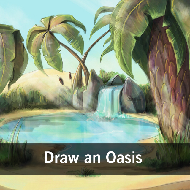 640x640 Paint A Desert Oasis With Picsart For Our Drawing Challenge