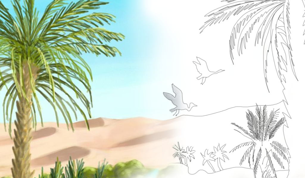 1024x600 Picsartists Share Tutorials On How To Draw An Oasis