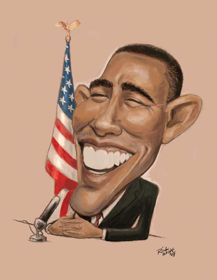 700x903 Obama Caricatures By Rick