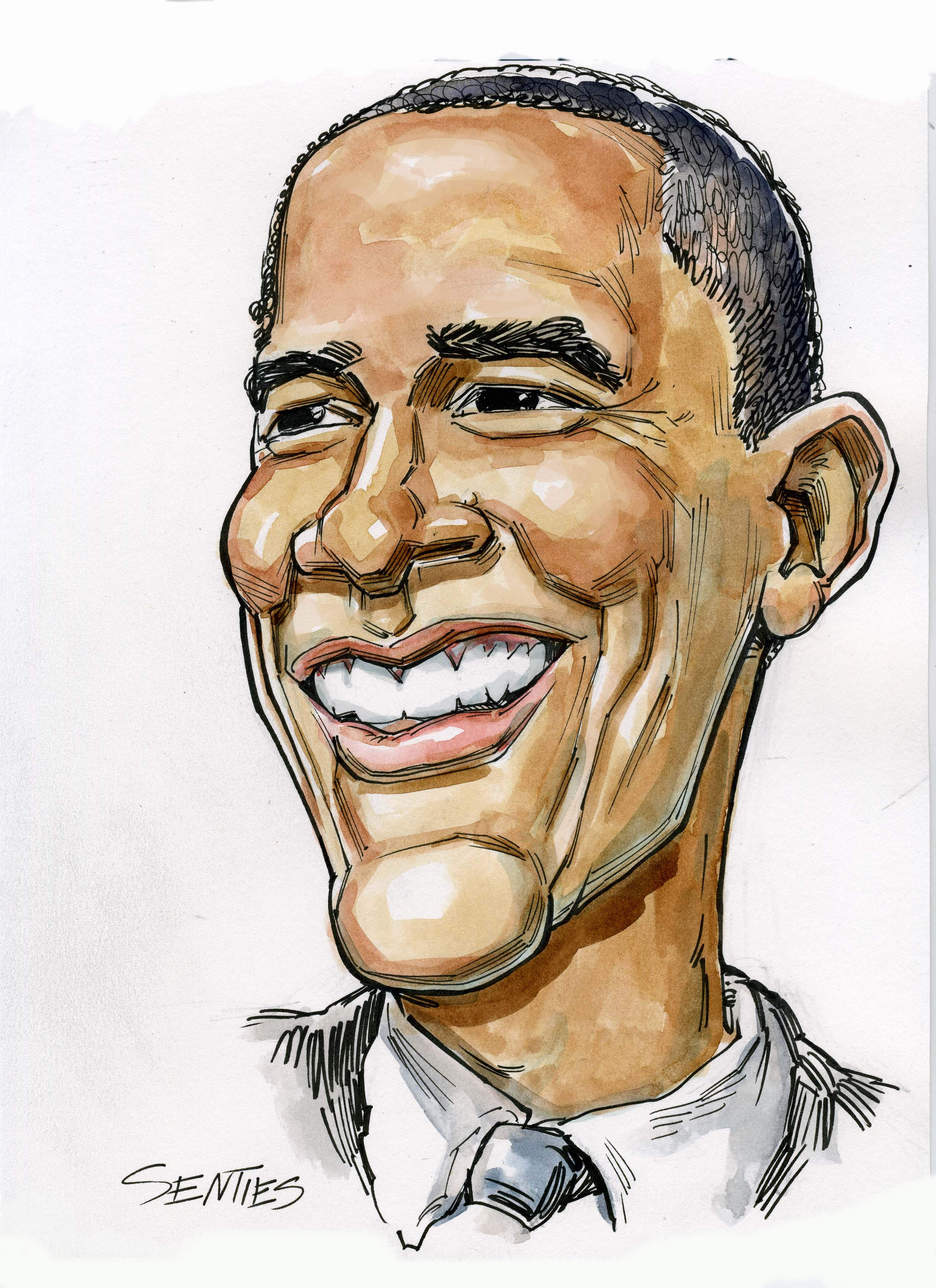 2550x3509 Obama Cartoon Drawing Caricature Artist Caricature Barack Obama
