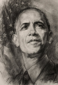 206x300 Barack Obama Drawings Fine Art America