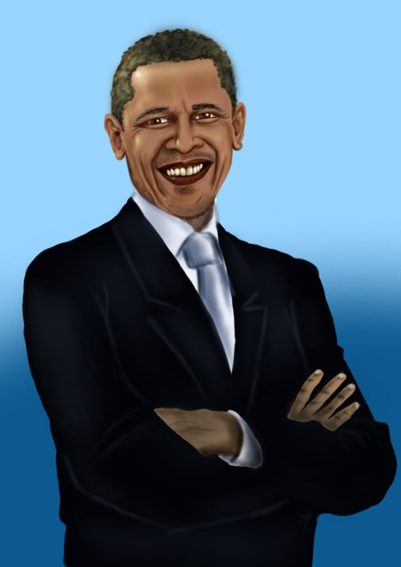 566x800 Learn How To Draw Barack Obama (Politicians) Step By Step