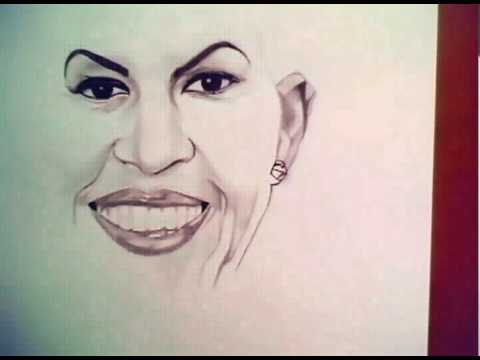 480x360 Michelle Obama Drawing By Denzel Seals