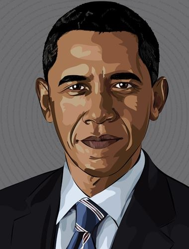 380x500 President Obama Drawing President Barack Obama